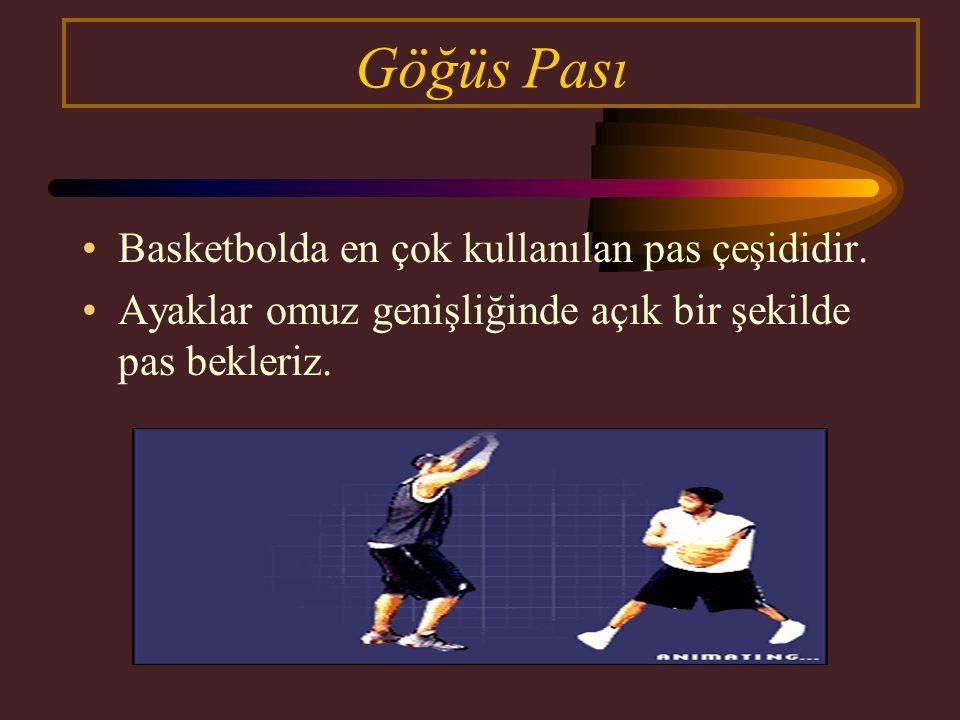 Göğüs Pası Basketbolda en çok kullanılan pas çeşididir.
