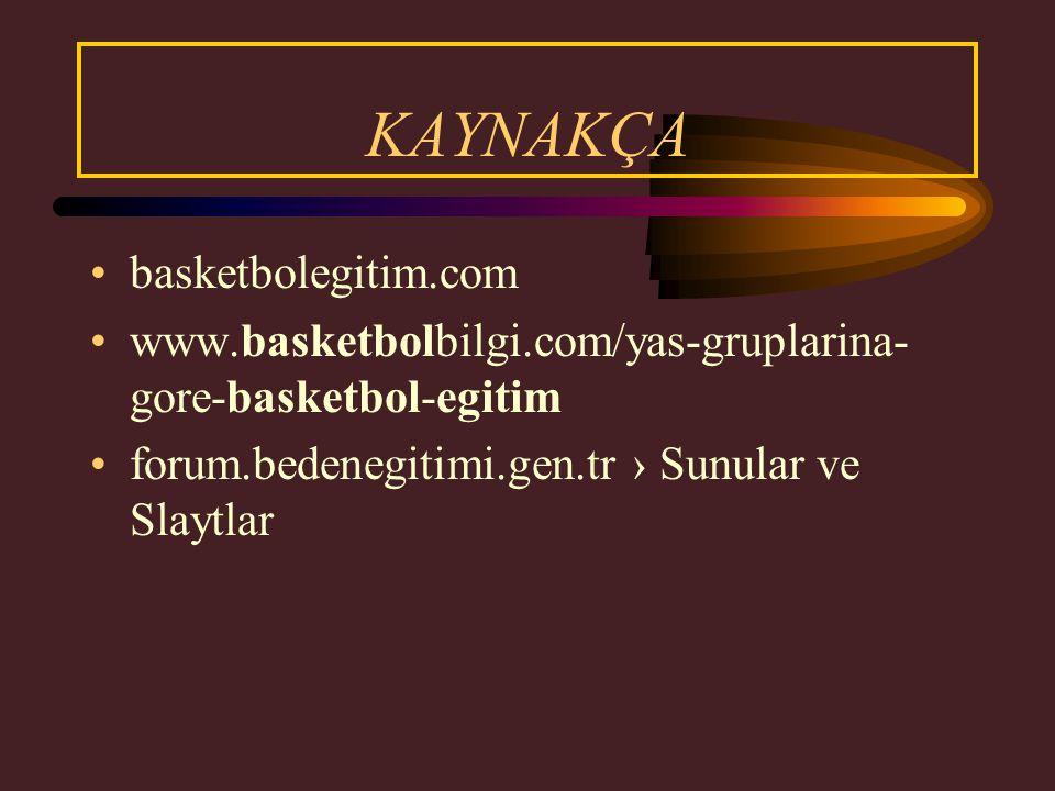 KAYNAKÇA basketbolegitim.com