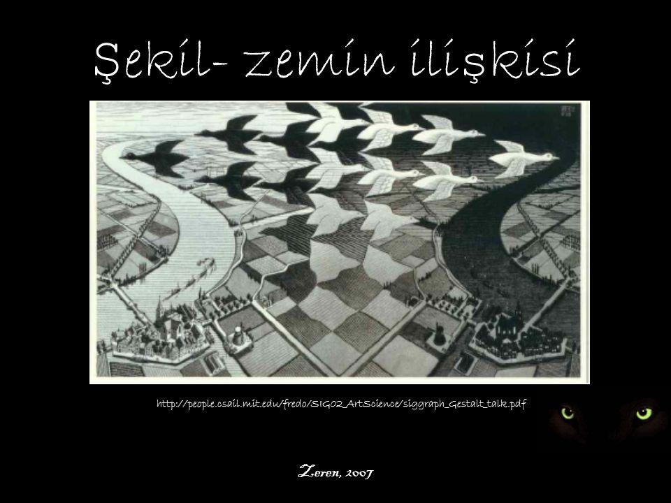 Şekil- zemin ilişkisi Zeren, 2007