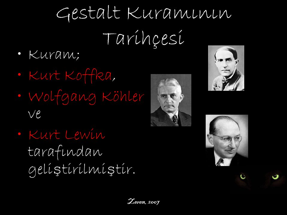 Gestalt Kuramının Tarihçesi
