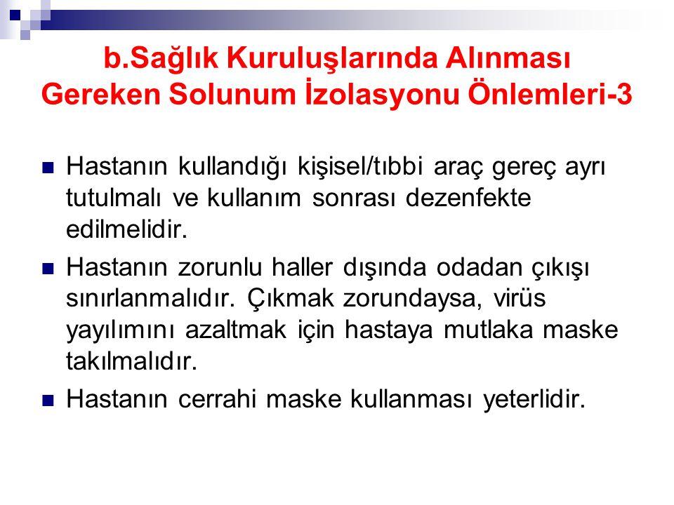 b.Sağlık Kuruluşlarında Alınması Gereken Solunum İzolasyonu Önlemleri-3