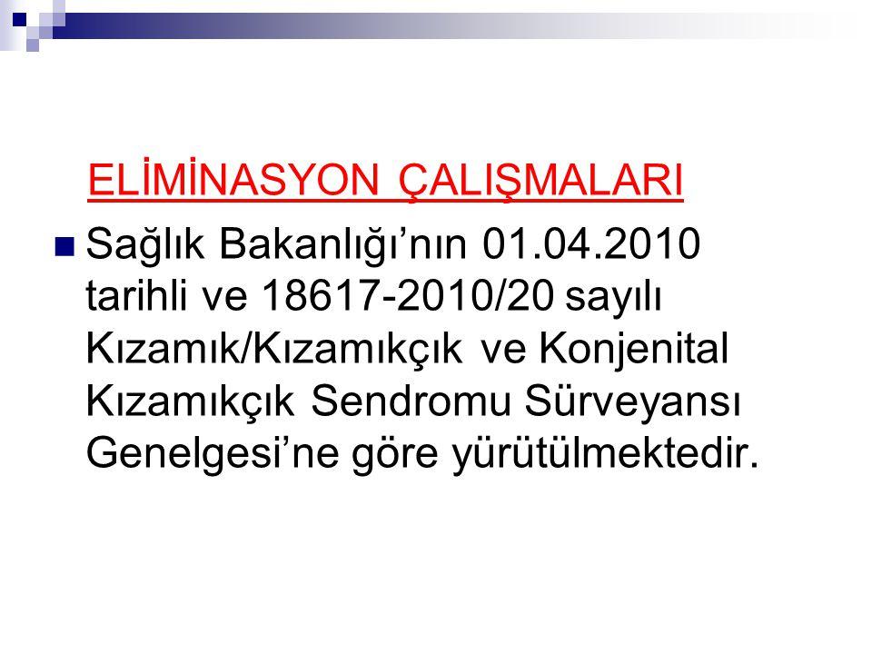 ELİMİNASYON ÇALIŞMALARI