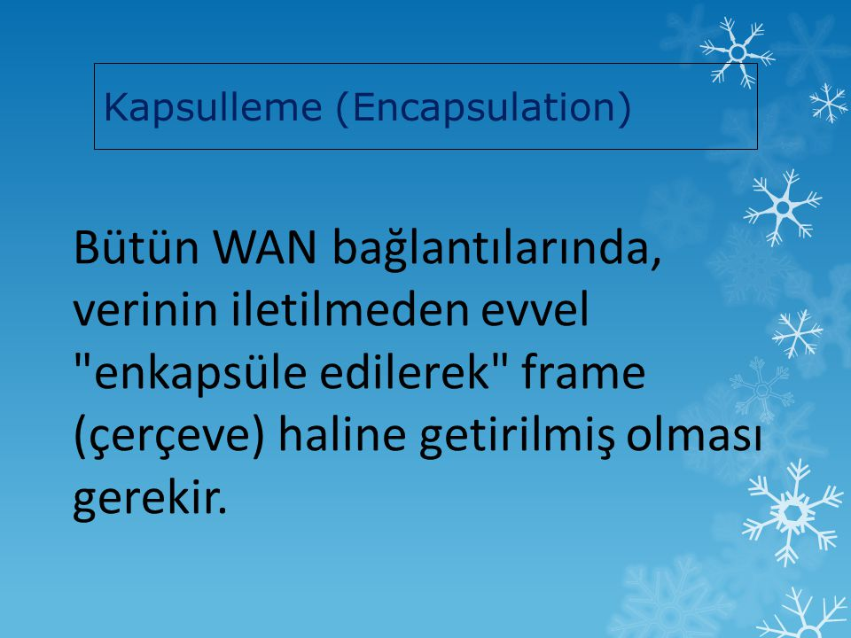 Kapsulleme (Encapsulation)