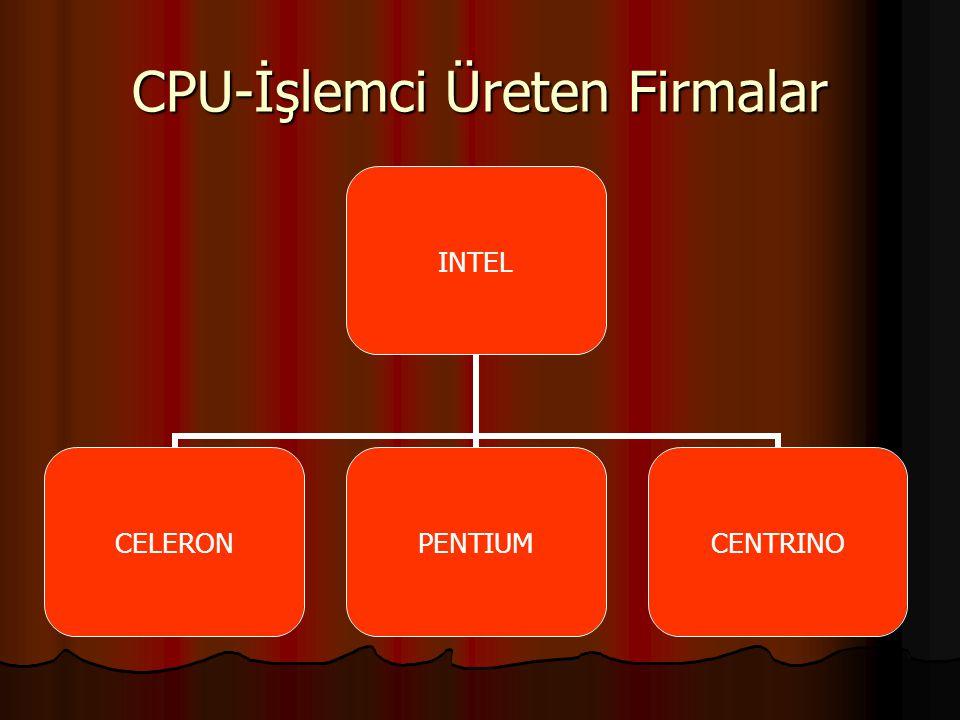CPU-İşlemci Üreten Firmalar