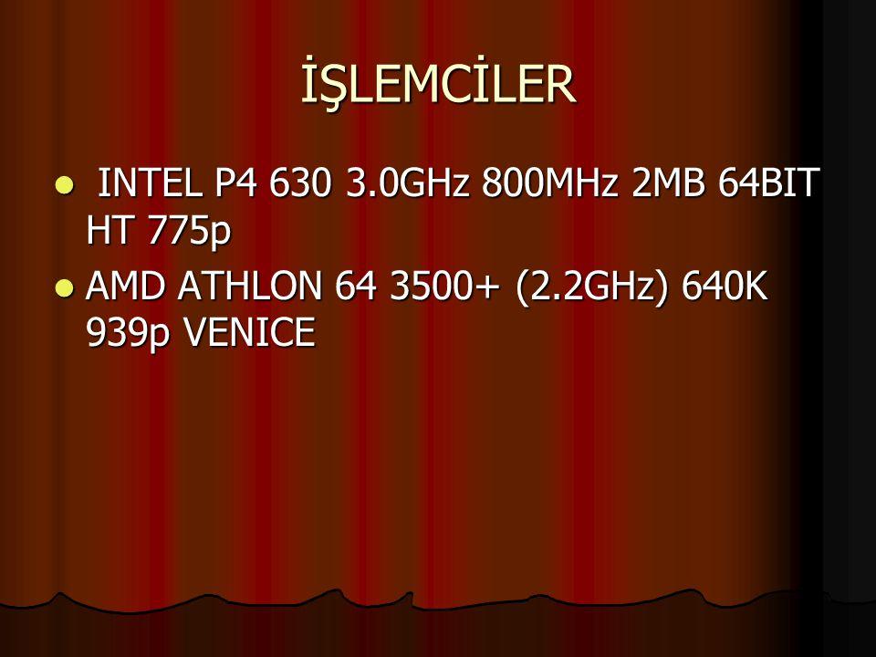 İŞLEMCİLER INTEL P4 630 3.0GHz 800MHz 2MB 64BIT HT 775p
