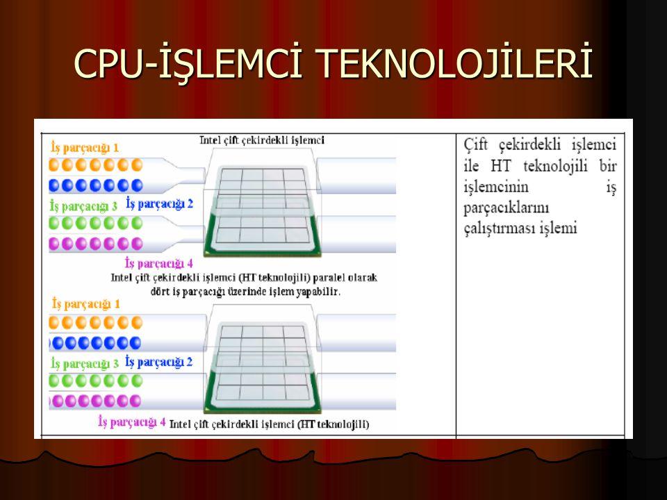 CPU-İŞLEMCİ TEKNOLOJİLERİ