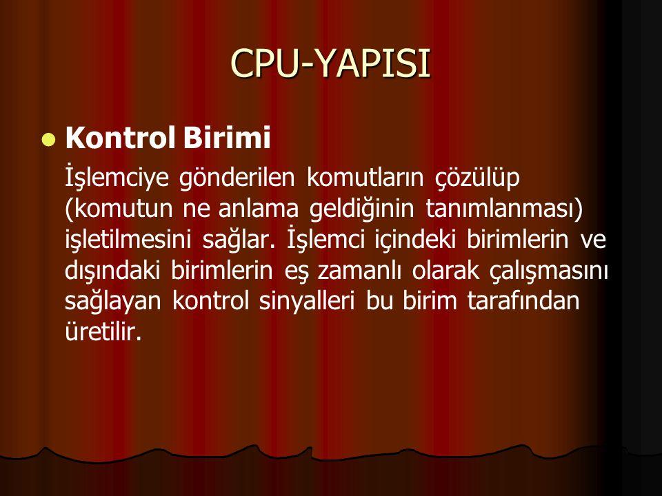CPU-YAPISI Kontrol Birimi