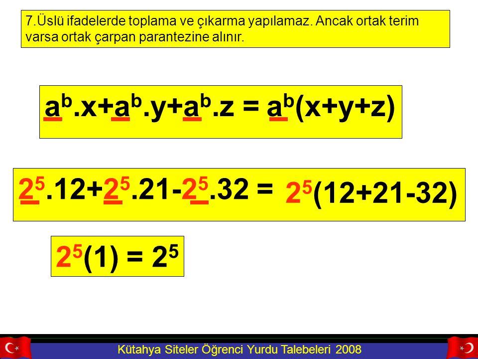 ab.x+ab.y+ab.z = ab(x+y+z) 25.12+25.21-25.32 = 25(12+21-32) 25(1) = 25