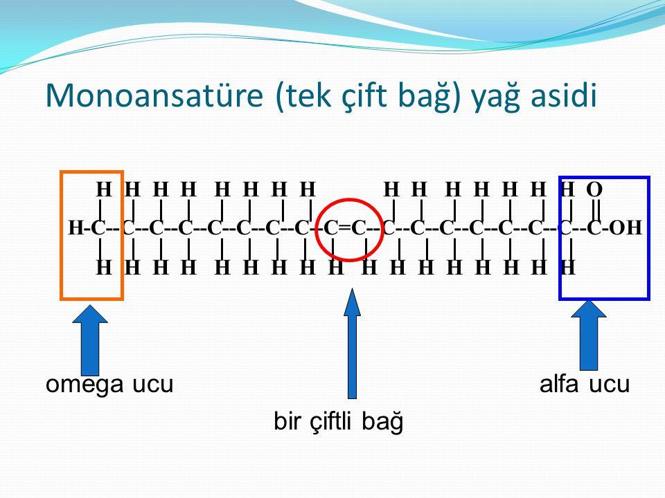 Monoansatüre (tek çift bağ) yağ asidi
