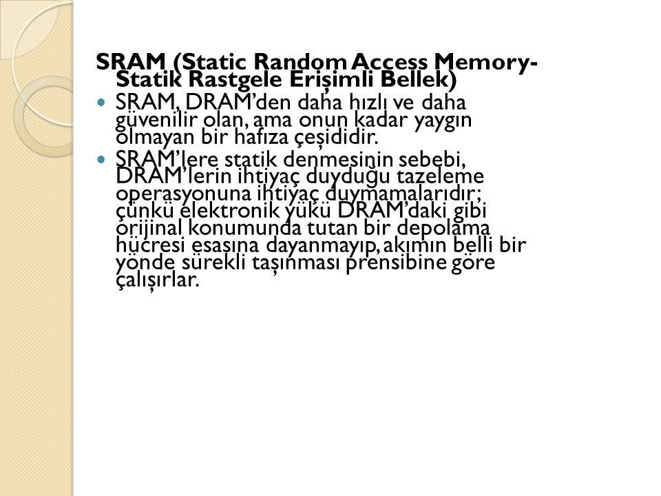 SRAM (Static Random Access Memory- Statik Rastgele Erişimli Bellek)