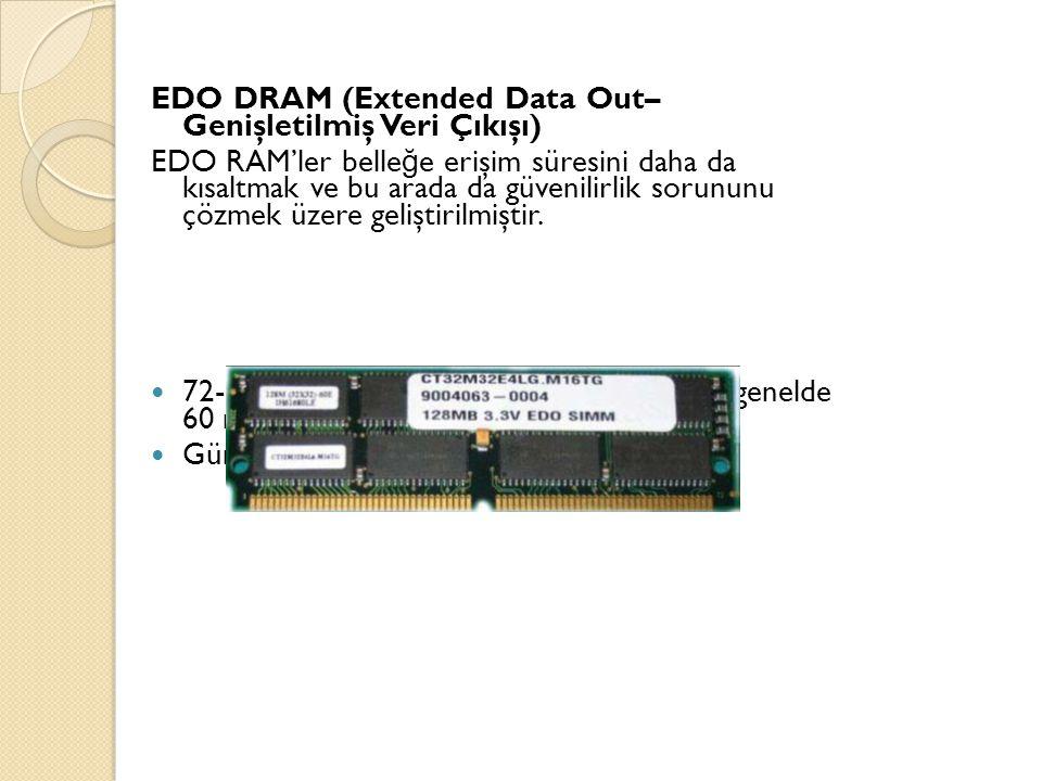 EDO DRAM (Extended Data Out– Genişletilmiş Veri Çıkışı)