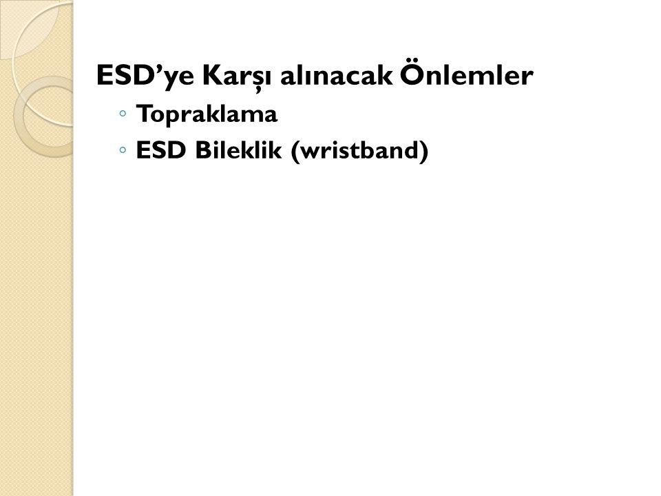 ESD'ye Karşı alınacak Önlemler