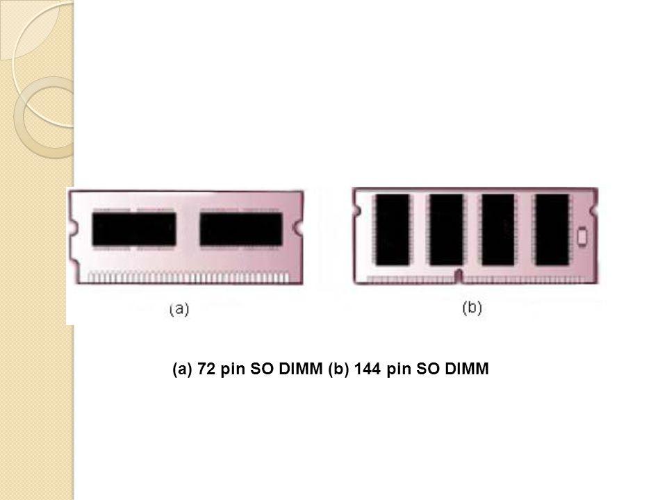 (a) 72 pin SO DIMM (b) 144 pin SO DIMM