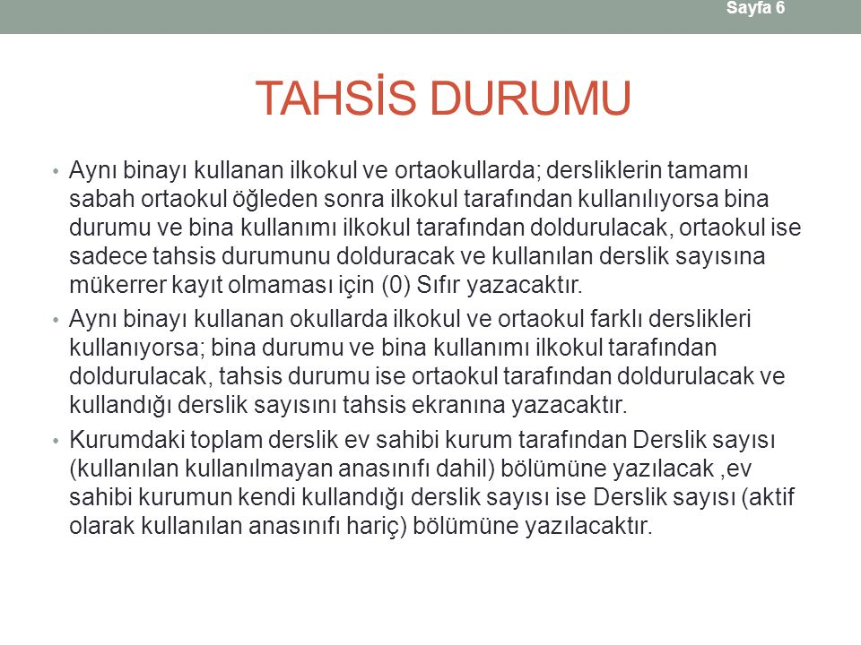 TAHSİS DURUMU