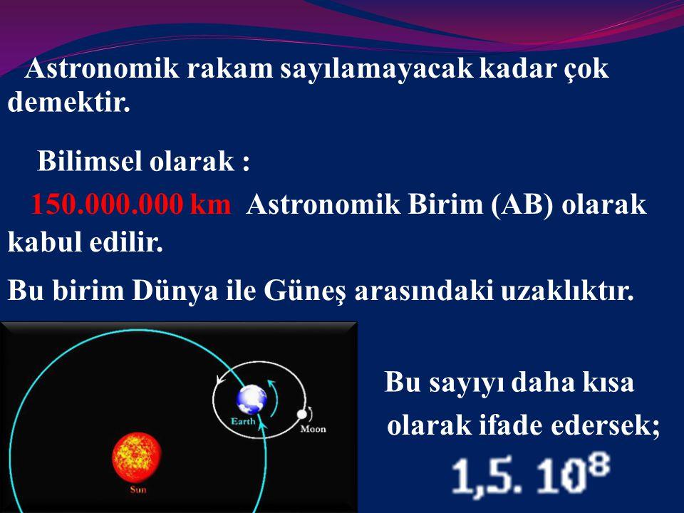 Astronomik rakam sayılamayacak kadar çok