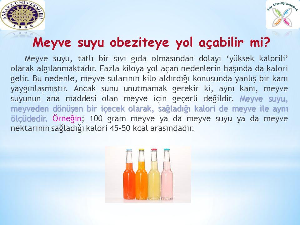 Meyve suyu obeziteye yol açabilir mi