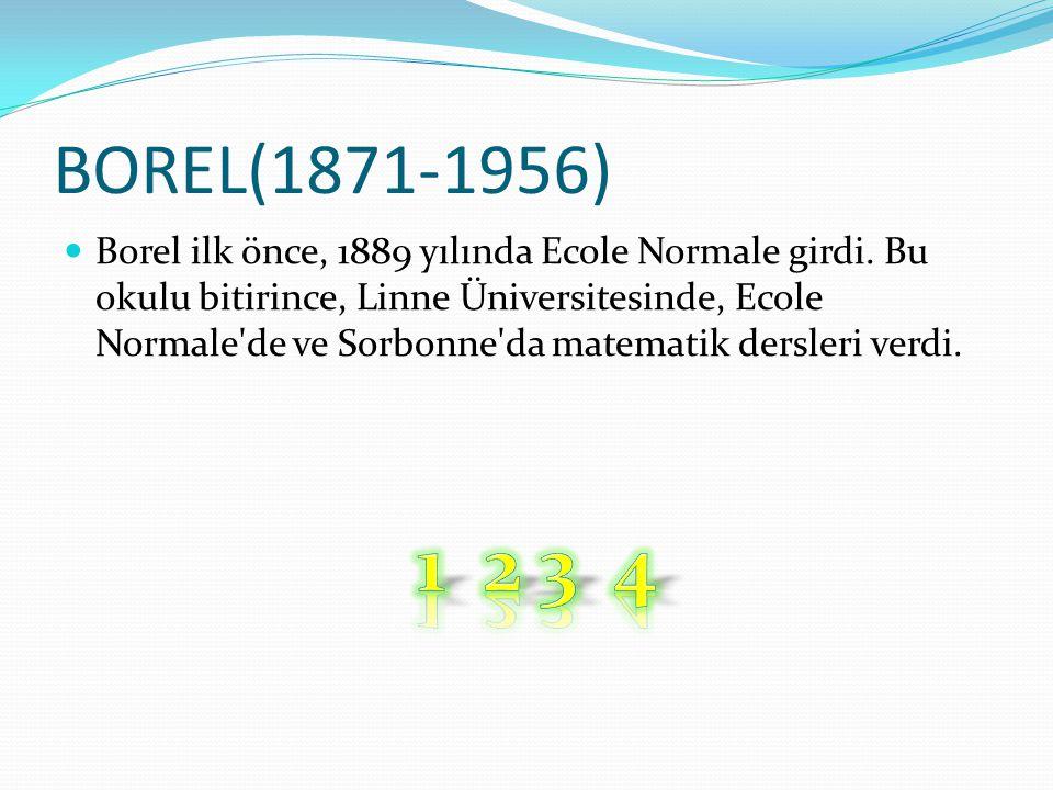 BOREL(1871-1956)
