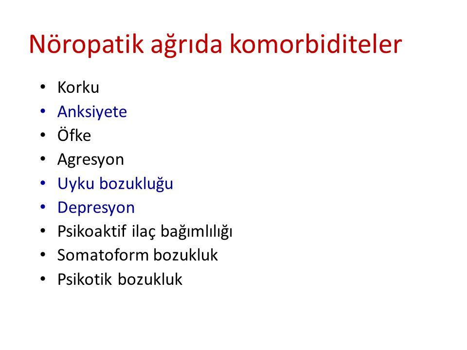 Nöropatik ağrıda komorbiditeler