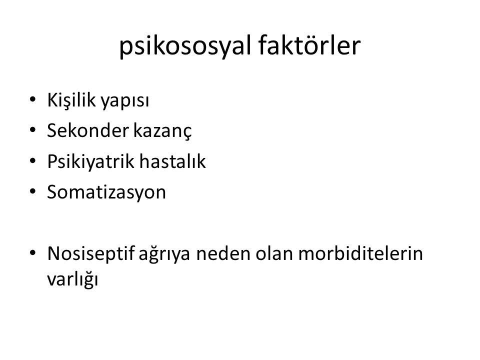 psikososyal faktörler