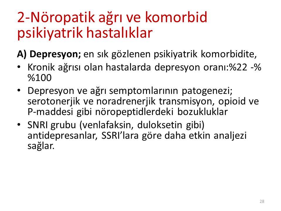 2-Nöropatik ağrı ve komorbid psikiyatrik hastalıklar