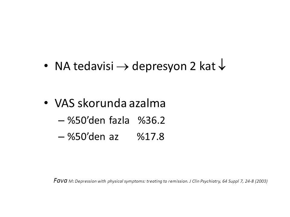NA tedavisi  depresyon 2 kat  VAS skorunda azalma