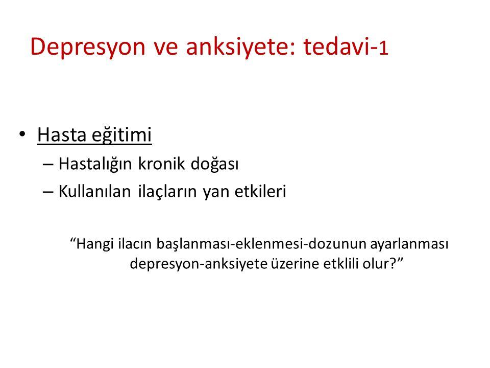 Depresyon ve anksiyete: tedavi-1