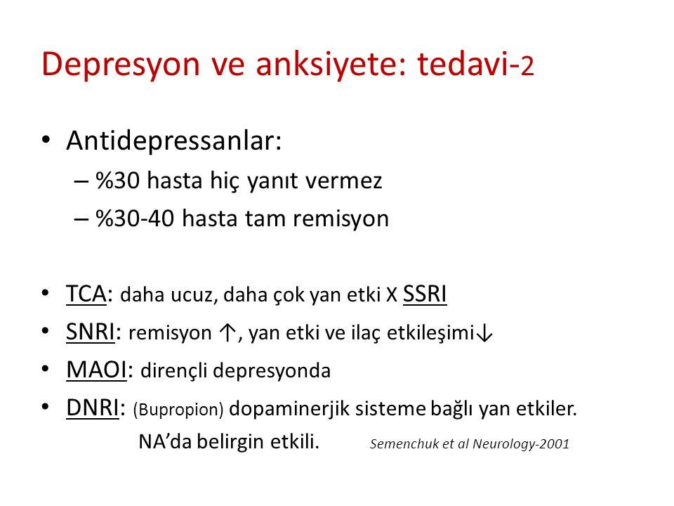 Depresyon ve anksiyete: tedavi-2