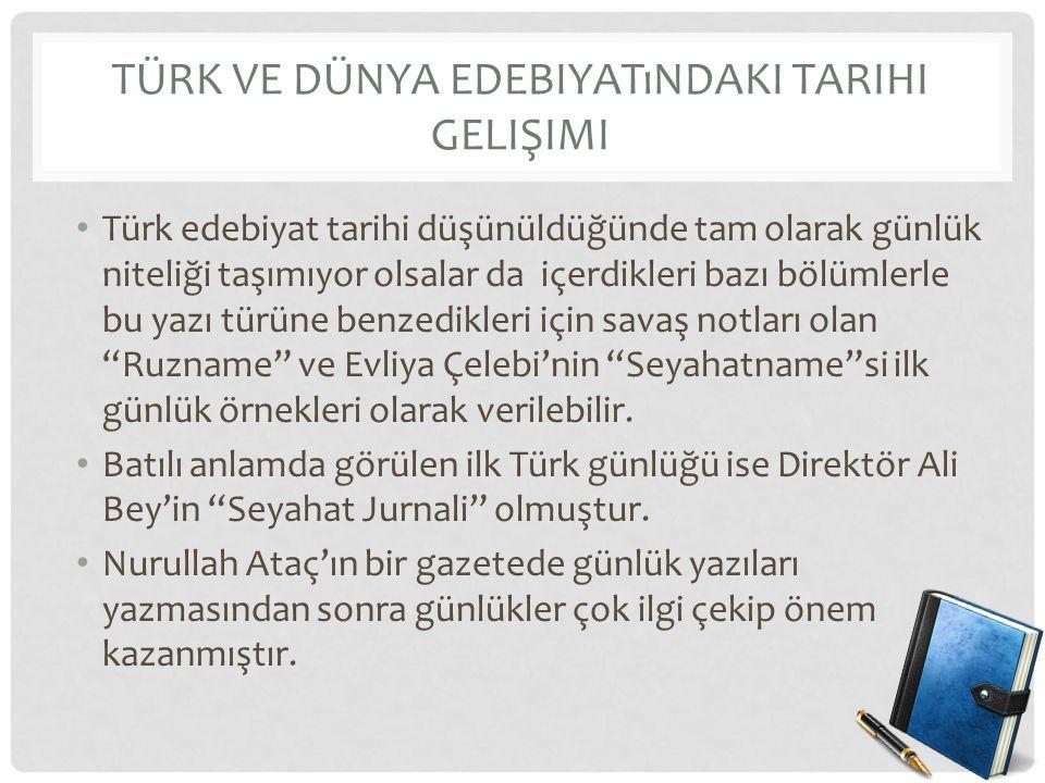 Türk ve Dünya Edebiyatındaki Tarihi Gelişimi
