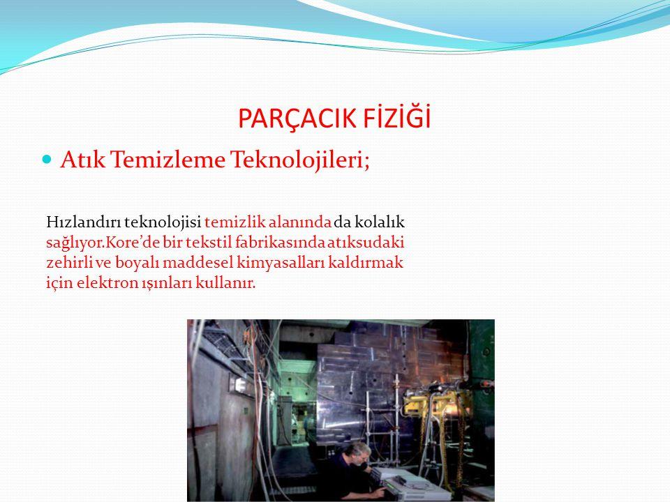 PARÇACIK FİZİĞİ Atık Temizleme Teknolojileri;
