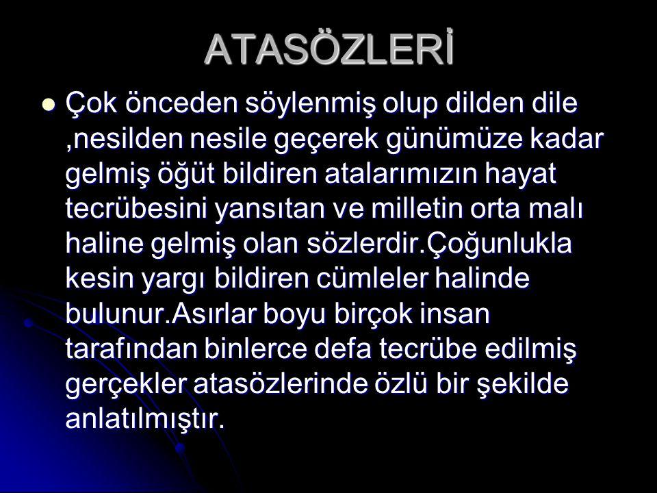 ATASÖZLERİ