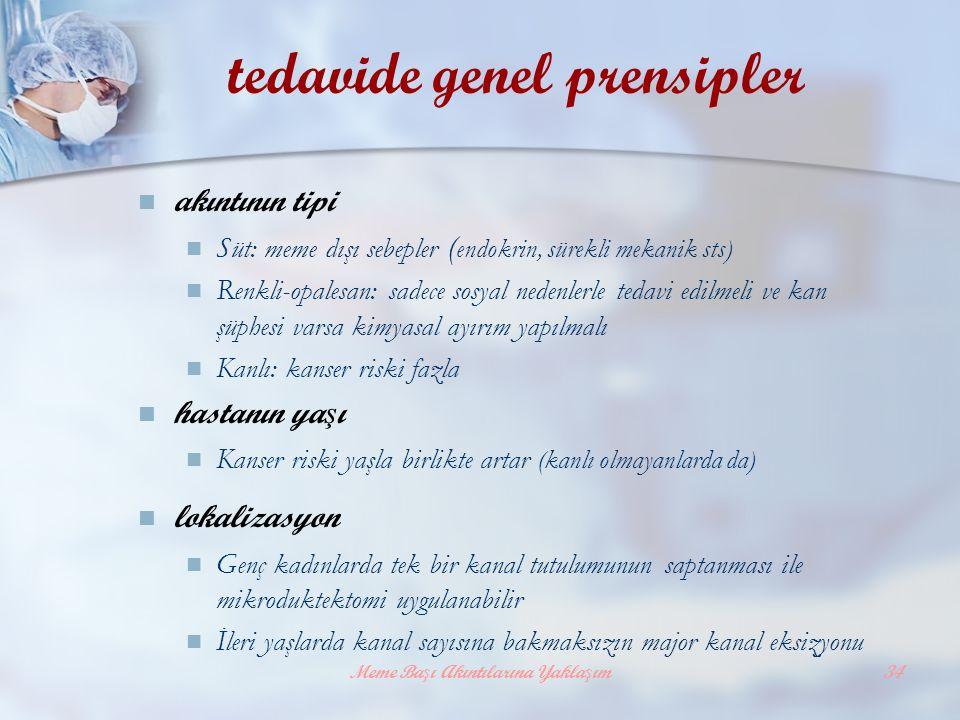 tedavide genel prensipler