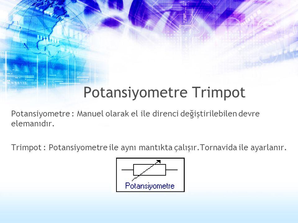 Potansiyometre Trimpot