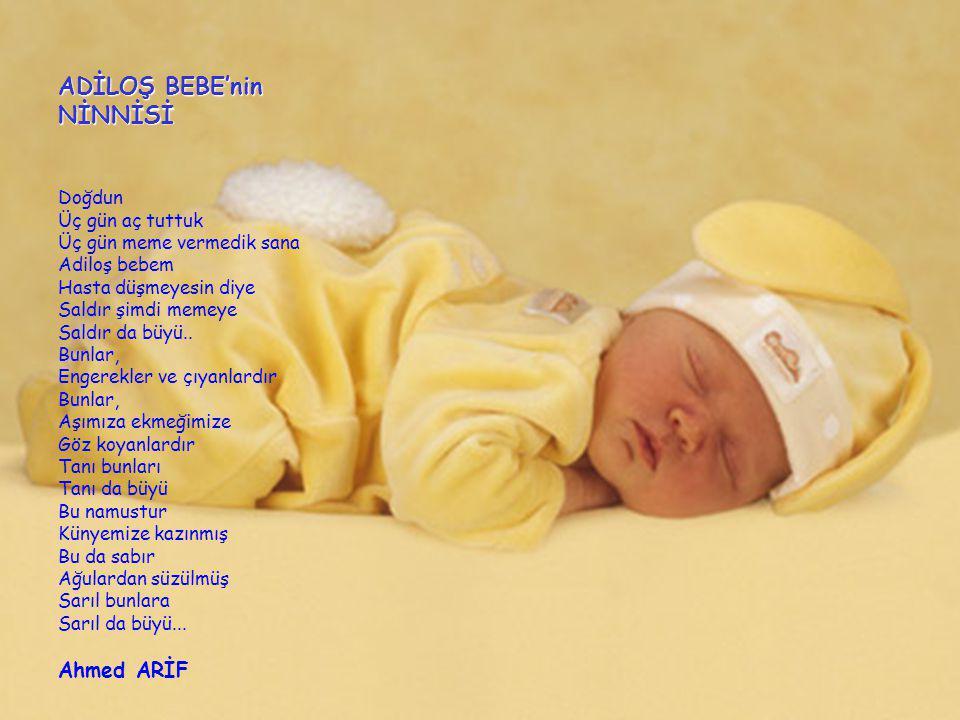 ADİLOŞ BEBE'nin NİNNİSİ > Ahmed ARİF Doğdun Üç gün aç tuttuk