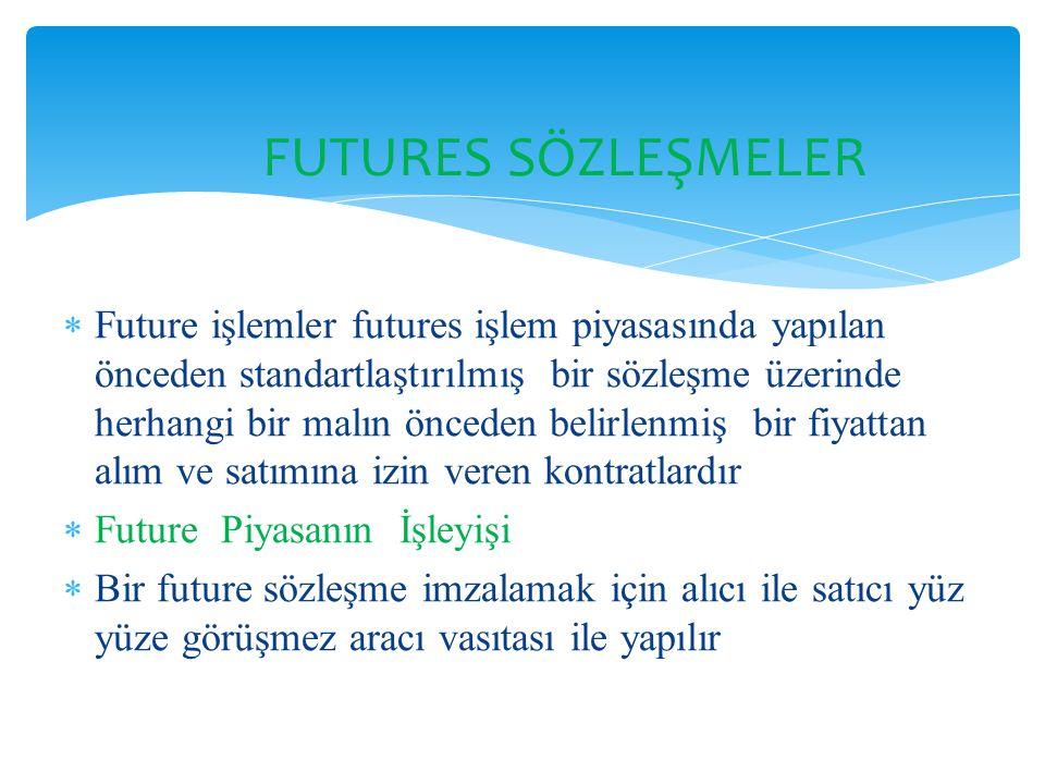 FUTURES SÖZLEŞMELER