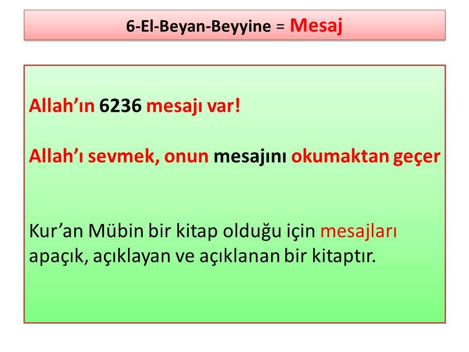 6-El-Beyan-Beyyine = Mesaj