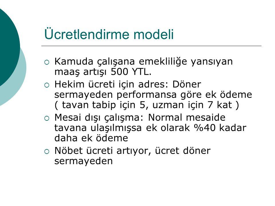 Ücretlendirme modeli Kamuda çalışana emekliliğe yansıyan maaş artışı 500 YTL.
