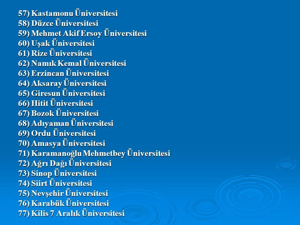 57) Kastamonu Üniversitesi