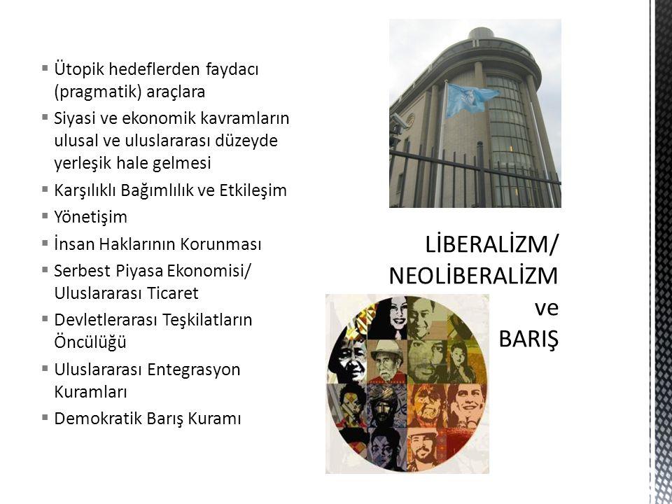 LİBERALİZM/ NEOLİBERALİZM ve BARIŞ