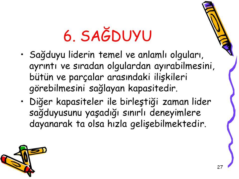 Pınar Yeşiltay 6. SAĞDUYU.