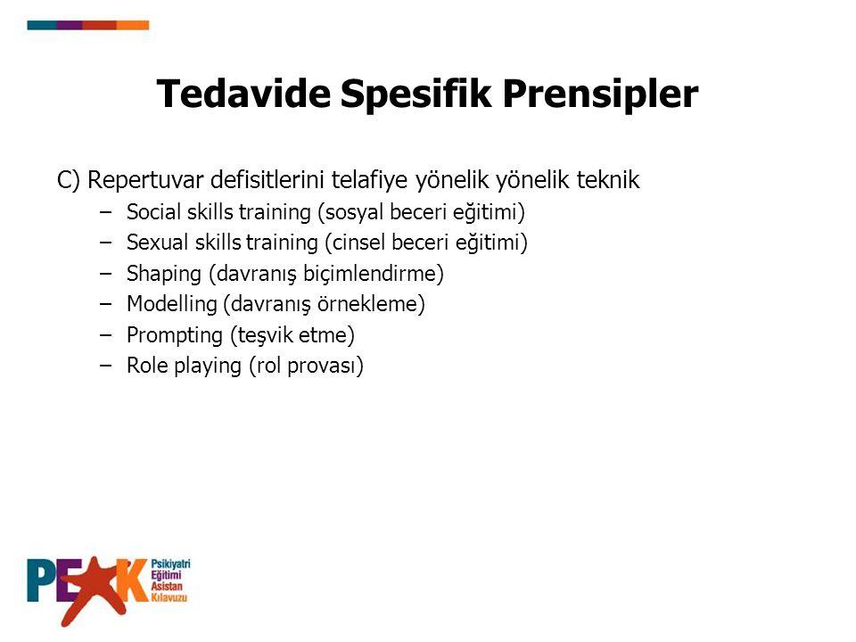 Tedavide Spesifik Prensipler