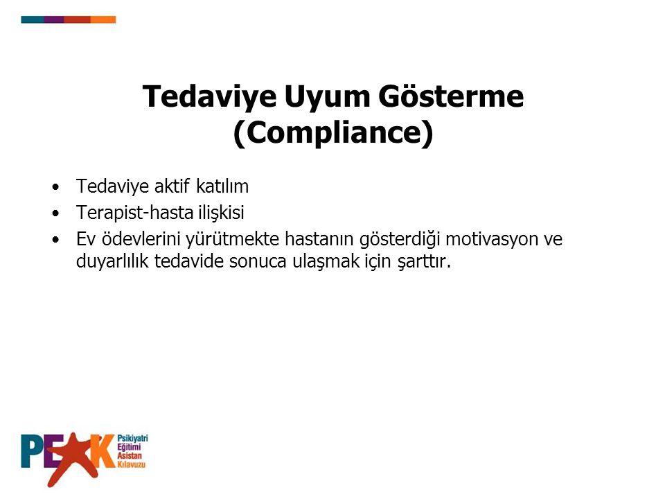 Tedaviye Uyum Gösterme (Compliance)