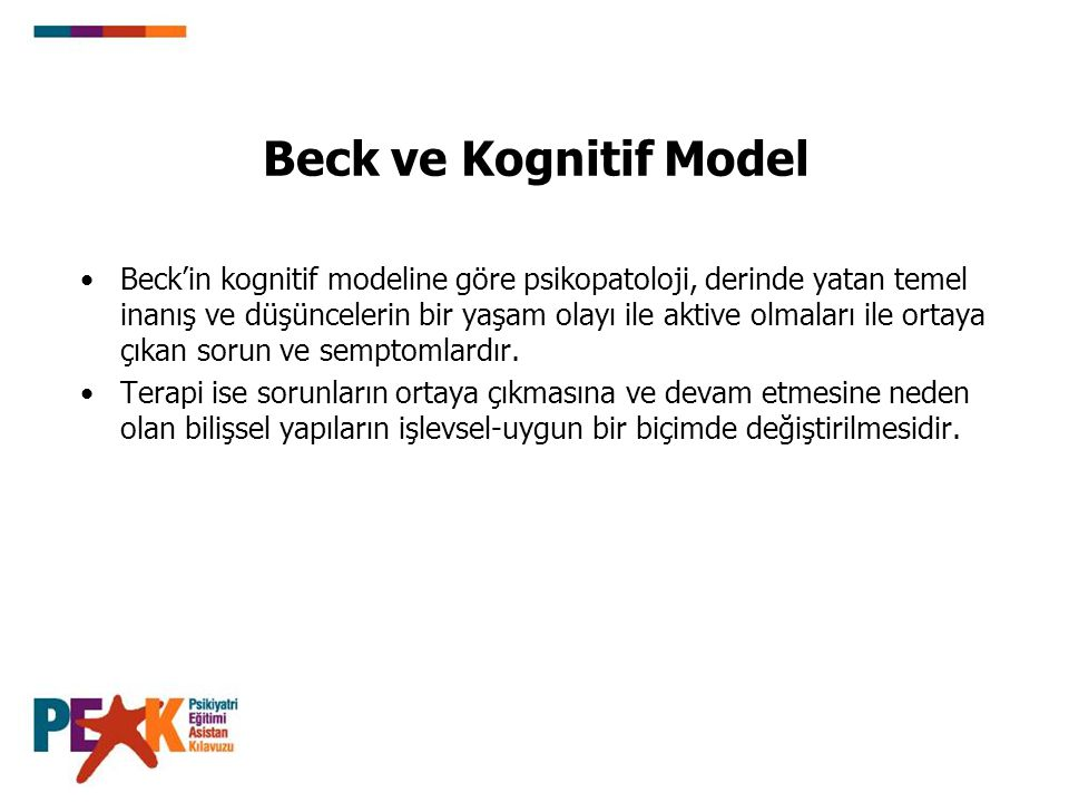 Beck ve Kognitif Model