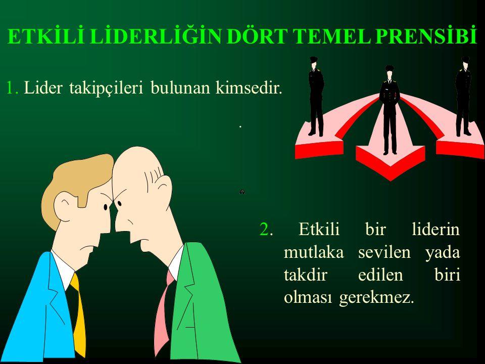 ETKİLİ LİDERLİĞİN DÖRT TEMEL PRENSİBİ