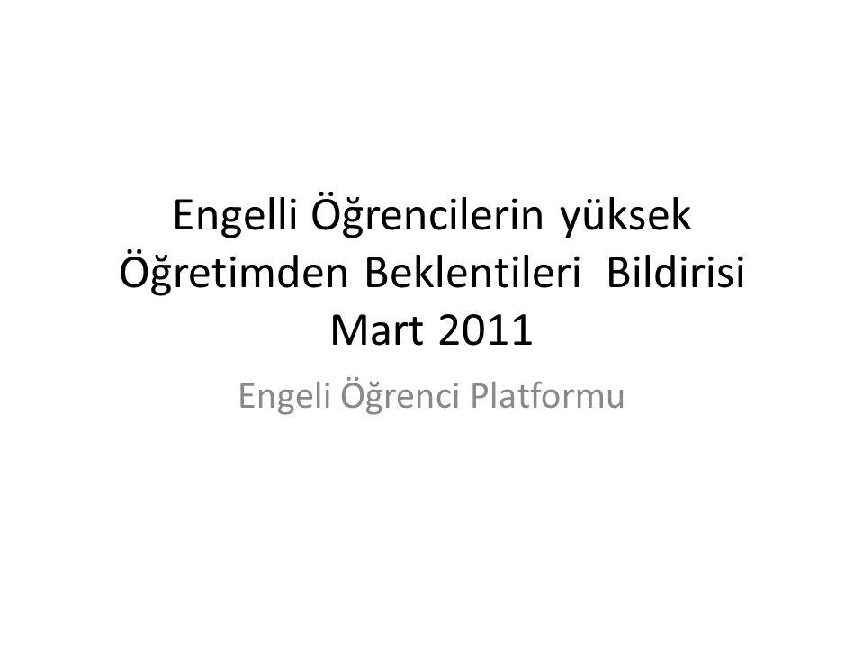 Engeli Öğrenci Platformu