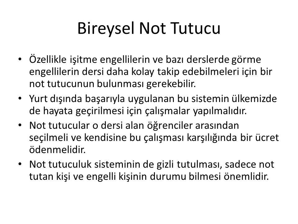 Bireysel Not Tutucu