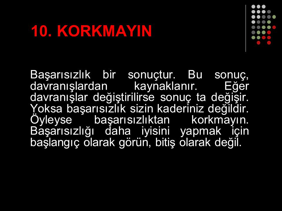 10. KORKMAYIN