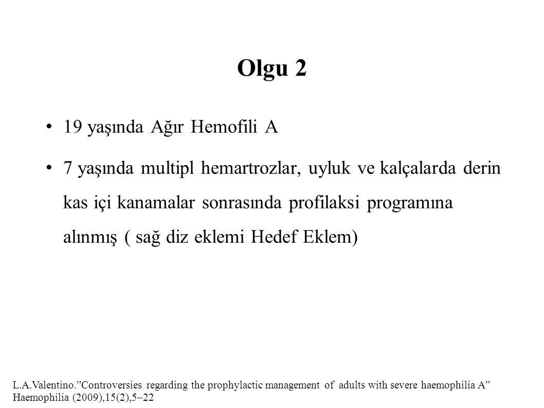 Olgu 2 19 yaşında Ağır Hemofili A