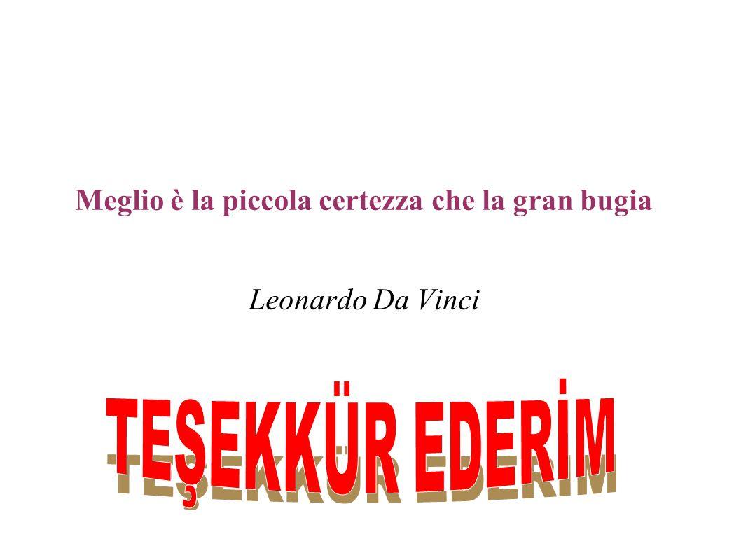 Meglio è la piccola certezza che la gran bugia Leonardo Da Vinci