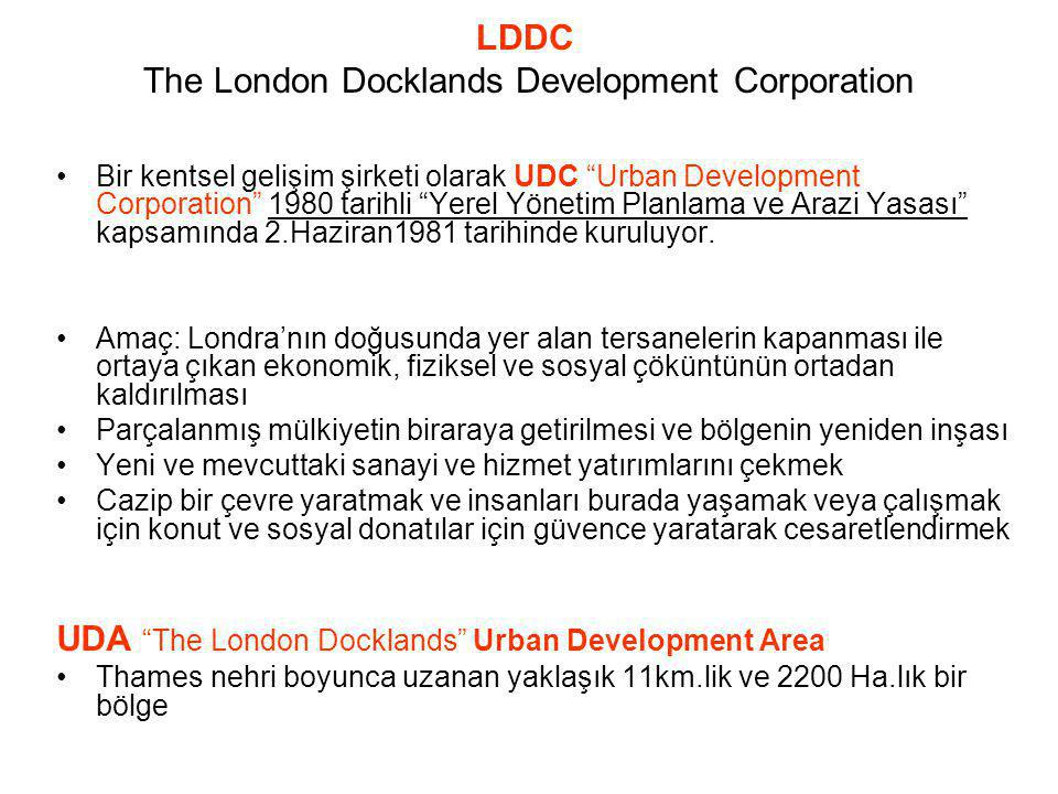 LDDC The London Docklands Development Corporation