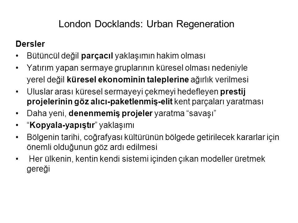 London Docklands: Urban Regeneration